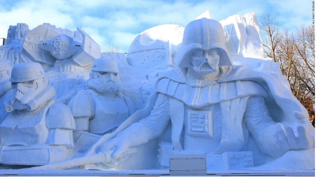 Star Wars Themed Snow Sculptures