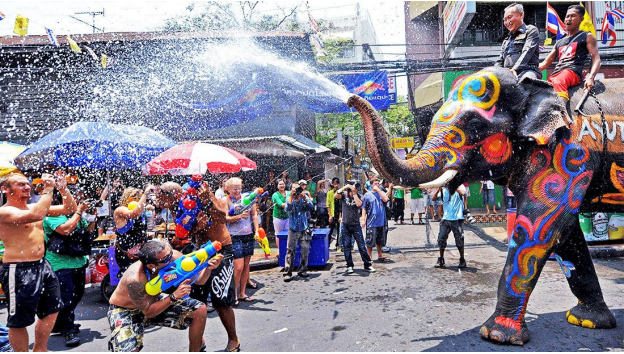 Water War - Elephant vs People
